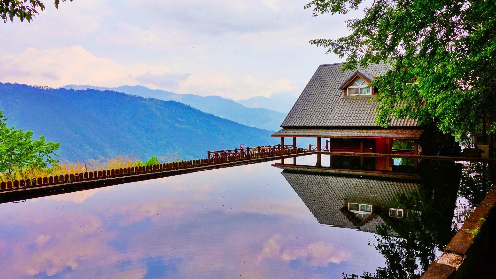 luxury mountain pool
