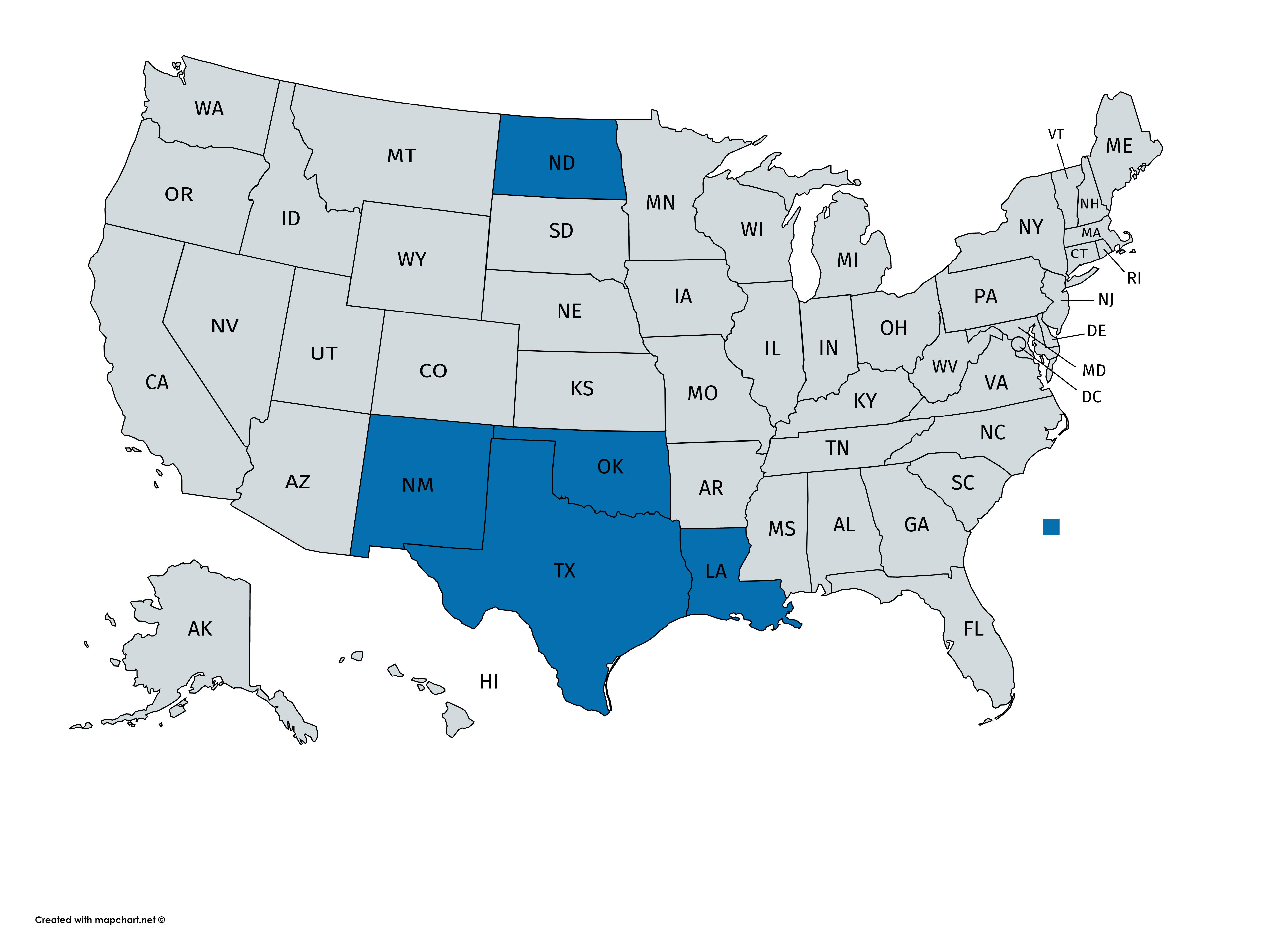 oil states